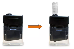 2 ml vials need to be inserted in the vials without neck as shown here.