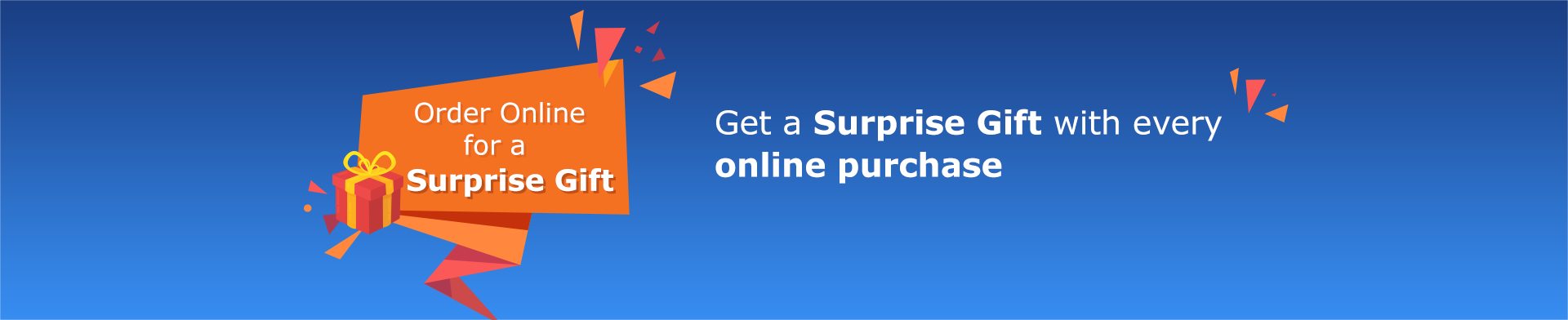 a surprise gift with any online purchase